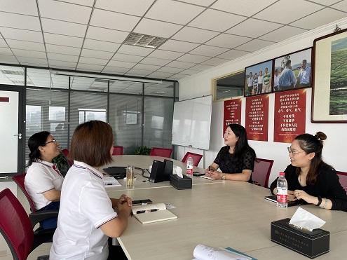 中国出口信用保险公司天津分公司来天隆公司调研